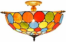 Tiffany-Lampe Schlafzimmer 55CM kreative bunte