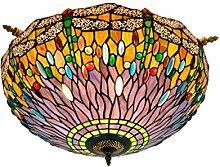 Tiffany-Lampe Schlafzimmer 55CM Tiffany grün