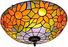 Tiffany-Lampe Schlafzimmer Amerikanische Blue Sun