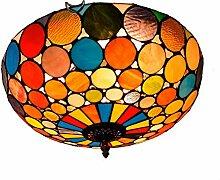 Tiffany-Lampe Schlafzimmer Bunte Dot Retro Tiffany