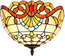 Tiffany-Lampe Schlafzimmer Tiffany Barock, Gelb,