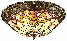 Tiffany Lampe Vintage LED Deckenleuchte Tiffany