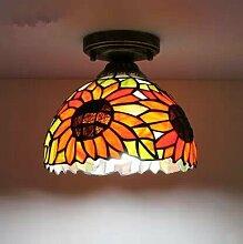 Tiffany-Lampen Continental Balkon Lichter Ganglichter Flurbeleuchtung Portallichter Treppenhalle leuchtet 8-Zoll-Deckenleuchten