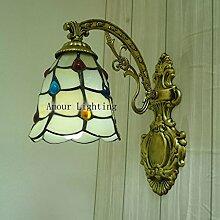 Tiffany-Lampen Ganglichter Wandlampe Nachttischlampe Spiegelfront minimalistisch moderne kreative Lampe Perlen Lampen