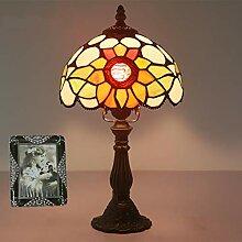 Tiffany-Lampen Glasmalerei Tischlampe Floral Shade