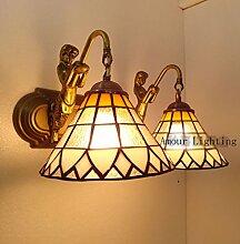 Tiffany-Lampen modernen minimalistischen Stil Lampe Badezimmerlampe moderne Lampe Spiegel Frontleuchte Wandleuchte Mermaid Nachtdoppel