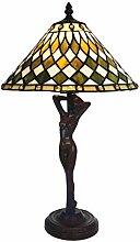 Tiffany Leuchte Jugendstil Lampe Art Woman 46cm