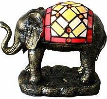 Tiffany Leuchte Jugendstil Lampe Elefant 23cm