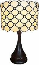 Tiffany Leuchte Jugendstil Lampe Perlmutt 46cm