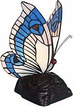 Tiffany Leuchte Lampe Jugendstil Butterfly blau