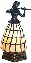 Tiffany Leuchte Lampe Jugendstil Geigerin