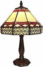 Tiffany Leuchte Lampe Jugendstil Golden Perlmut