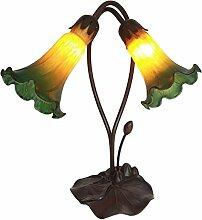 Tiffany Leuchte Lampe Jugendstil Lilien grün 40cm