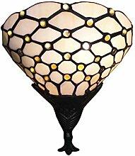 Tiffany Leuchte Lampe Jugendstil Perlmutt 25cm