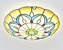 Tiffany Stil Deckenleuchte LED Runde Deckenlampe,