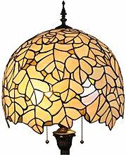 Tiffany Stil Hohe 64-Zoll Blätter Glasmalerei