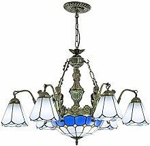 Tiffany Stil Kronleuchter Glasmalerei LED E27