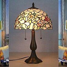 Tiffany Tischlampe Landhaus Stil E27