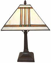 Tiffanylampe Nachttisch Wohnzimmer Aegypt weiss