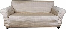 Tiffy - Stretch Sofahusse (Creme) hussen für sofa 2 sitzer
