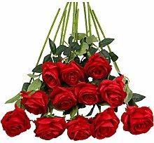 Tifuly 12 STÜCKE Künstliche Rosen,