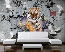 Tiger 3D Fototapete Tapeten Schlafzimmer