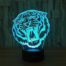 Tiger 3D Nachtlicht Optische Illusion Lampe 20