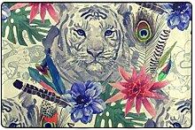 Tiger Bereich Teppich Fußmatte Muster