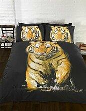 Tiger Fotografien Animal Einzelbett Bettbezug &