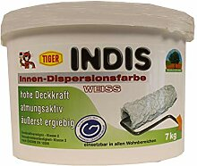 Tiger Indis Innen-Dispersionsfarbe Wandfarbe Weiss