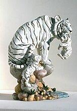 Tiger Katze Tigerfigur Baby Tierfigur Skulptur