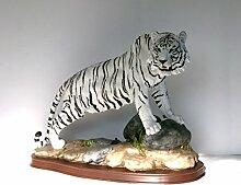 Tiger Katze Tigerfigur Tierfigur Skulptur Deko