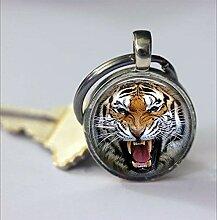 Tiger Schlüsselanhänger, ein wilder Tiger,