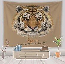 Tiger Tiere Wandteppich Hippie Bohemian Wandbehang