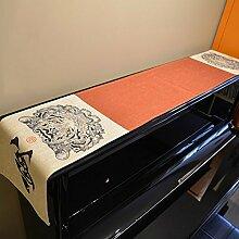 Tiger Tischläufer Baumwolle Bettwäsche–memorecool Haustierhaus Einzigartiges Design Anti-memorecoolstatic handgefertigt alle Jahreszeiten 33x 160cm, baumwolle, tiger, 13x63inch