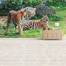 Tiger Wandbild Dschungel Tiere Foto-Tapete Kinder Schlafzimmer Haus Dekor Erhältlich in 8 Größen Riesig Digital