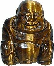 Tigerauge Buddha ca. 25 x 30 mm aus echtem