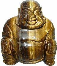 Tigerauge Buddha ca. 45 x 50 mm aus echtem