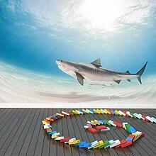 Tigerhai Wandbild Unter dem Meer Foto-Tapete Kinder Schlafzimmer Haus Dekor Erhältlich in 8 Größen X-Groß Digital