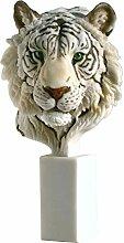 Tigerkopf Büste Tiger Katze Tierfigur Skulptur