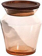Tiipoi Kosa Glas Vorratsdose, Aluminium/Alabaster,