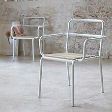 Tikamoon 1966Björn Sessel Metall weiß 58x 59x 80cm