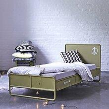 Tikamoon Deserter Bett, Metall, Grün, 205 x 97 x 90 cm