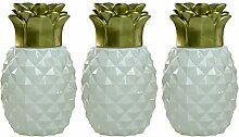 Tiki 1117077 Ananas-Tischfackel, Glas, 3 Stück,