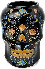 Tiki-Becher aus Keramik, Motiv: Tag der Toten,