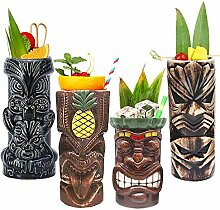 Tiki Becher Cocktail-Set von 4 – Becher aus