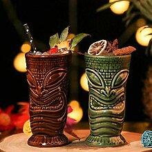 Tiki-Becher, Cocktailbecher Keramik hawaiianische