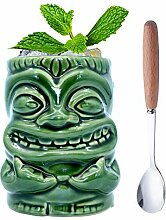Tiki Mugs – Tiki-Tasse aus Keramik mit Griff,