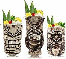 Tiki Tassen Set - Große Keramik Tiki Tiki Becher