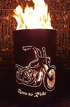 Tiko-Metalldesign Coole Feuertonne/Feuerkorb mit